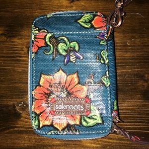 Sakroots boho wristlet wallet